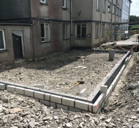 Builder in Tavistock - Footings example