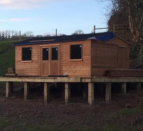 Timber building contractor Devon